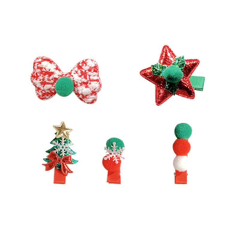 5 Cái/bộ Chúc Giáng Sinh Bé Gái Dễ Thương Ông Già Noel Người Tuyết Kẹp Tóc Bé Đáng Yêu Tóc Băng Đô Bé Phụ Kiện Tóc Thời Trang