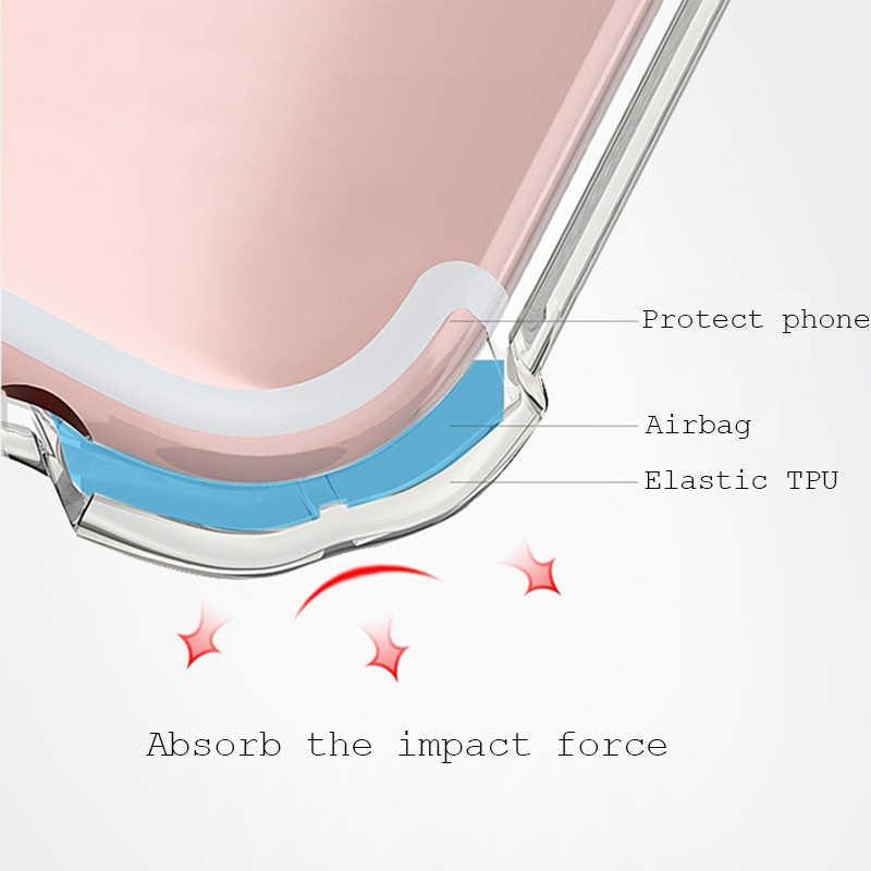 שקוף כרית אוויר Drop הגנת TPU מקרה עבור Vivo X7 X9 X20 X9s בתוספת X27 V15 פרו Y55 Y66 Y67 Y69 y71 Y75 Y79 Y81 Y85 Y93 Y97