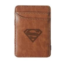 2019 New Arrivals High quality Superman  leather magic wallets Fashion men money clips card purse cash holder 2018 new dc comics superman series logo wallets purse multicolor 12cm leather hot w192