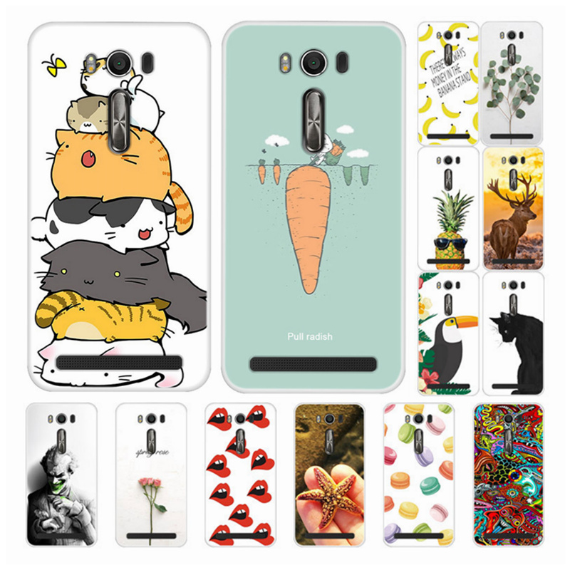 Phone Cases For <font><b>ASUS</b></font> <font><b>Zenfone</b></font> <font><b>2</b></font> laser ZE550KL Z00LD Silicone Back Cover Soft TPU Funda For <font><b>ASUS</b></font> ZE <font><b>550KL</b></font> Case Cute Cartoon Skin image