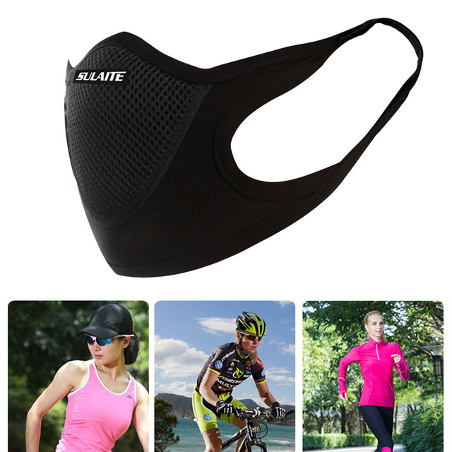 Cotton Velvet Filter Motorcycle Mask Mesh Fabric Anti dust-wind Breathable Mask Outdoor Cycling Riding Sports Protection 2