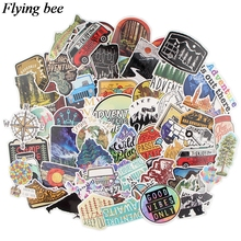 Flyingbee 67 pcs Outdoor scenery Sticker tourism Stickers for DIY Luggage Laptop Skateboard Car Motorcycle Bicycle Sticker X0561 flyingbee 44 pcs creative cool sticker anime stickers for diy luggage laptop skateboard car motorcycle stickers x0004