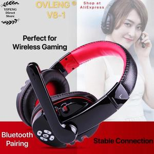 Image 2 - OVLENG V8 1 Over Ear Wireless Bluetooth Headphones Headset Gamer Support Microphone Gaming Earphones with LED Button
