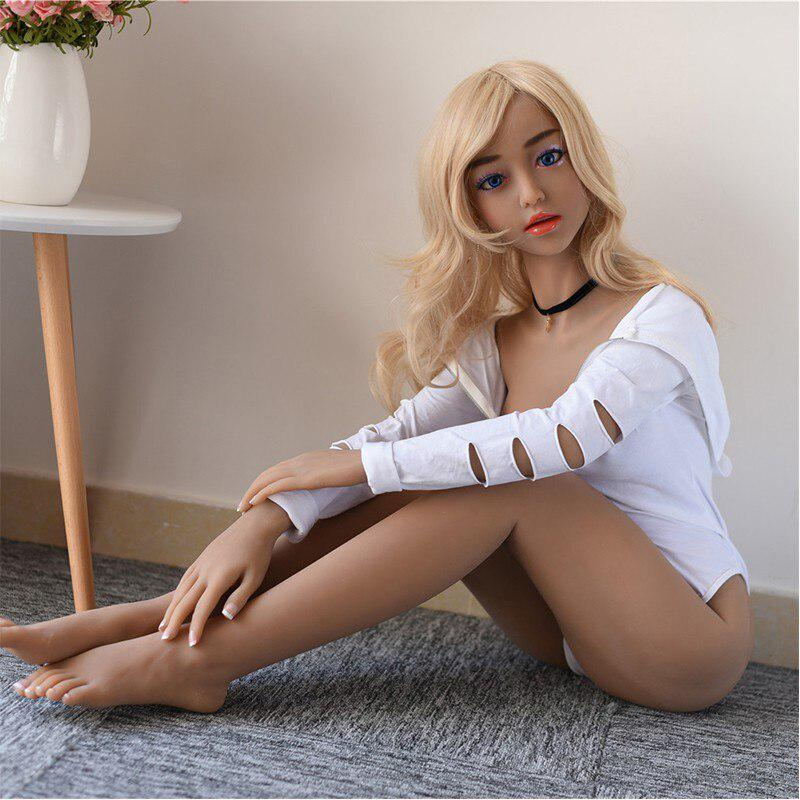 RABBITOW <font><b>150cm</b></font> TPE Real Silicone <font><b>Sex</b></font> <font><b>Dolls</b></font> sexy wheat color skin blue eyes <font><b>doll</b></font> men <font><b>sex</b></font> <font><b>doll</b></font> ass vaginal anal секс кукла image