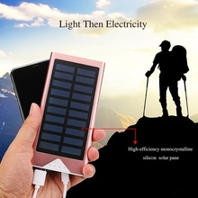 Outdoor Solar Power Bank Waterproof 10000mAh  2 USB Ports External Charger Ultra-thin Powerbank for Xiaomi IPhone X Battery Pack все цены