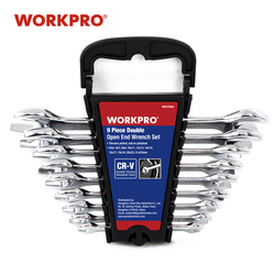 WORKPRO 9PC Wrench Set Double End Wrench Stay Wrench Hand Tool Set  6mm to 23mm