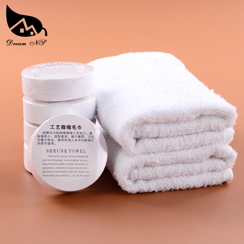 Dream NS One-time compressed towel 100% cotton fishing camping BBQ outdoor travel portable compressed towel face magic towel