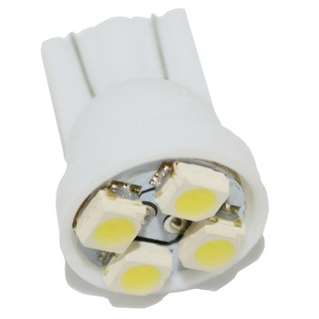Safego 1pcs Green Yellow Color LED W5w T10 Bulb LED 4 SMD T10 1210 3528 1210 W5w Super White Led Car Interior Dome Light image