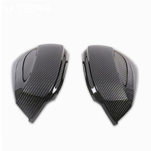 Image 5 - Hivotd For Audi Q3 2020 2019 Car Rearview Mirrors Case Side Wing Mirrors Cover Trim Protection Exterior Modification Accessories