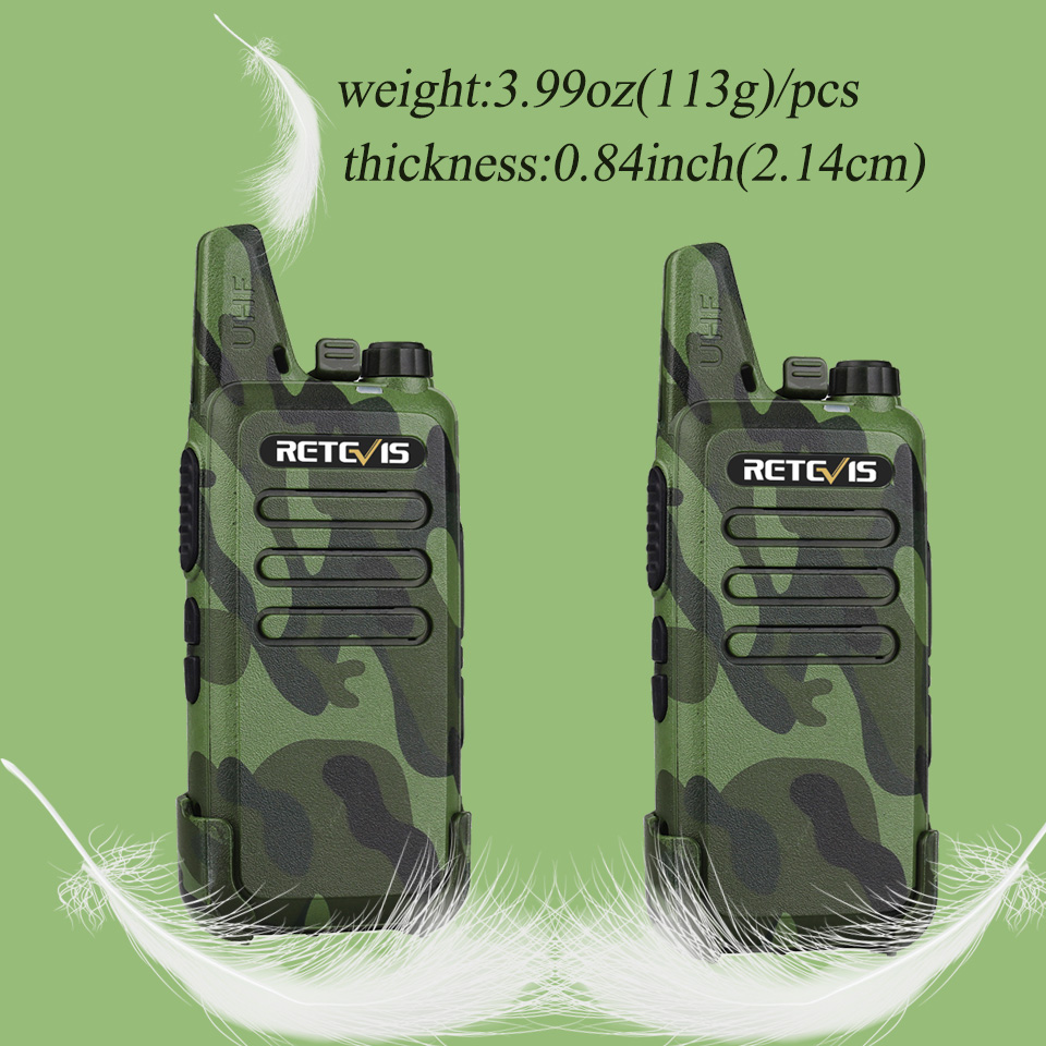 2pcs RETEVIS RT22 Professional Handy Walkie Talkie Mini FRS VOX USB Charge UHF Two Way Radio Comunicador Transceiver Woki Toki