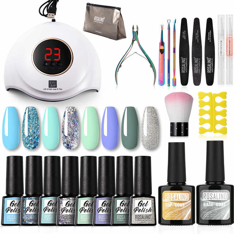 Rosalind Gel Nagellak Kit Hybrid Vernis Set Semi Permanente Gel Nail Alle Voor Manicure Uv Led Gel Lacquer Soak off Nail Art