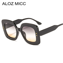 ALOZ MICC New Ladies Fashion Rivets Square Sunglasses Women Brand Designer Vintage Female Trends Gafas de sol Q712
