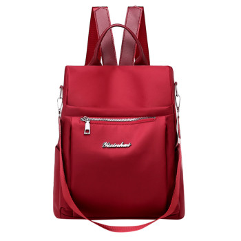 Litthing Women's  Fashion Backpack   Bag Solid Color Zipper Computer Backpack New  Bolsa Feminina