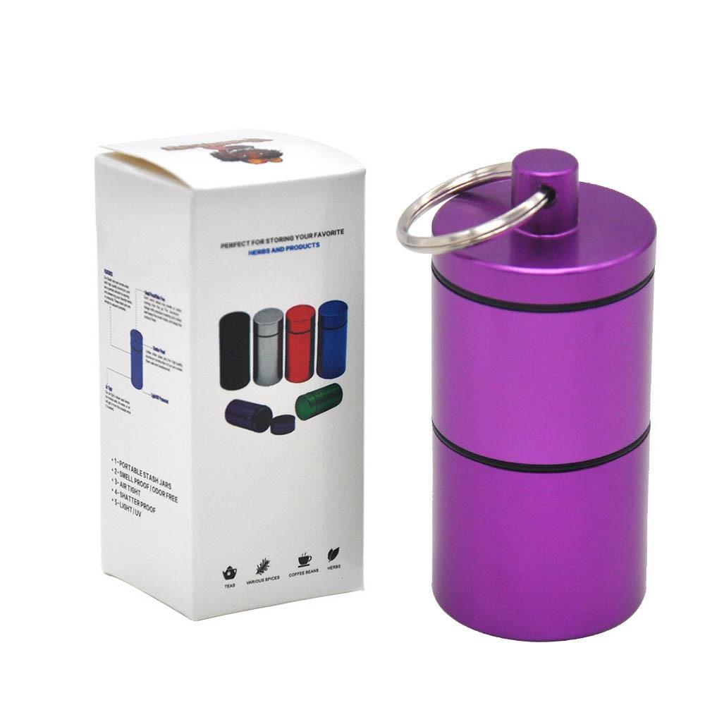 """HORNET Stash Jar-герметичный, устойчивый к запаху алюминиевый контейнер для специй с 2 слоями, чехол для табака """"вы можете собрать его самостоятельно"""" - Цвет: YH033-HP-Zi"""