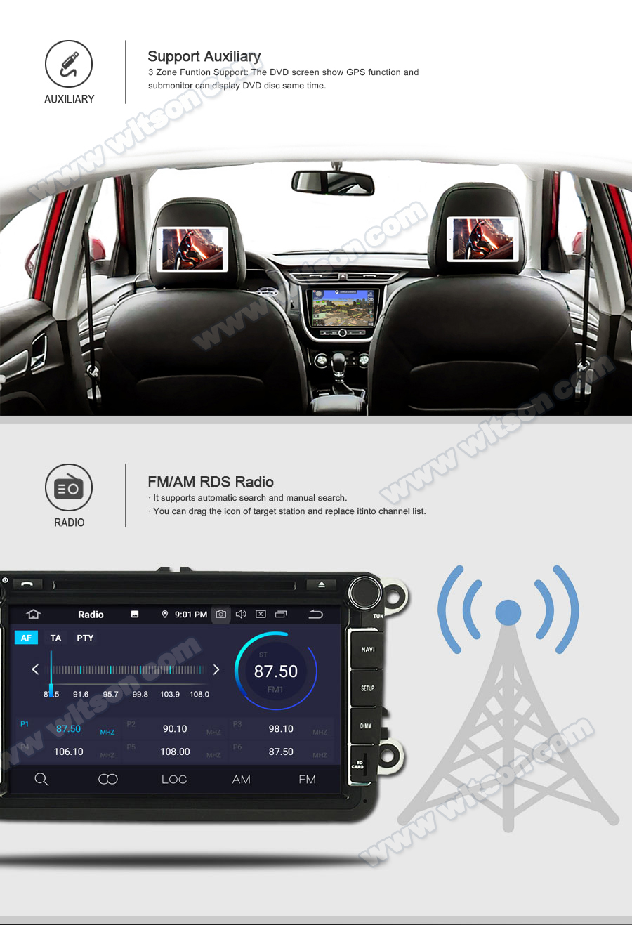 Top WITSON Android 9.0 IPS HD Screen for TOYOTA YARIS 2012 GPS CAR DVD RADIO 4GB RAM+64GB FLASH 8 Octa Core+DVR/WIFI+DSP+DAB+OBD 9