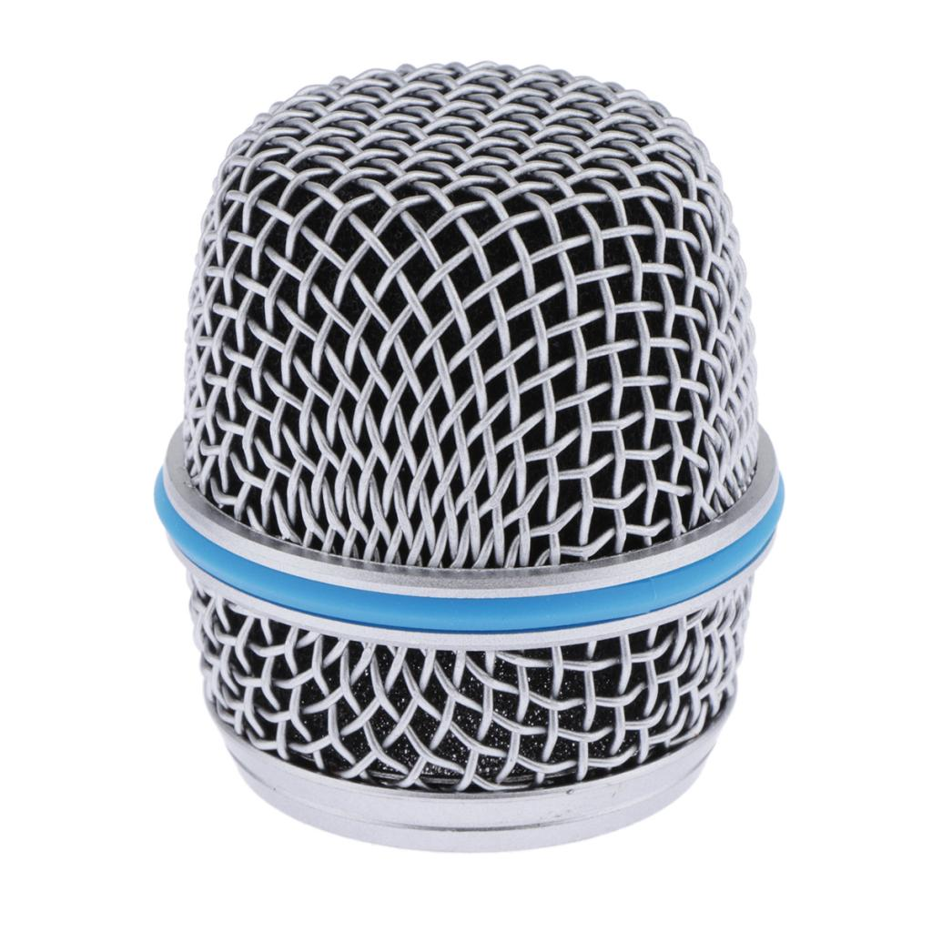 Blue Steel Replacement Mesh Microphone Grill Ball Head Cover Parts Accessory BETA 57A Fits Most Ball-shaped Dynamic Microphones