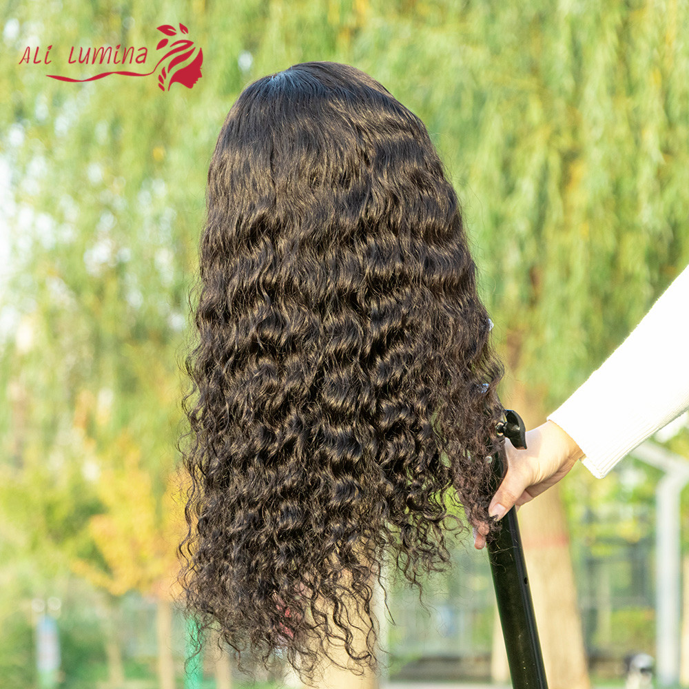 4X4 Lace Closure Wig Deep Wave Wig  Wigs Pre-Plucked With Baby Hair Natural Color  Lace Wig  Hair 2