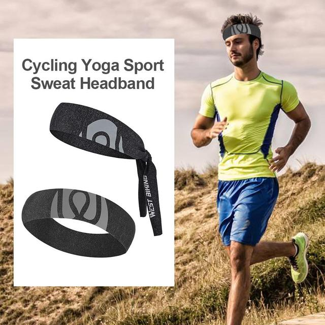 Sport Sweat Headband Breathable Comfortable Ice Silk Sweat Belt Outdoor Equipment Running Cycling Yoga 1