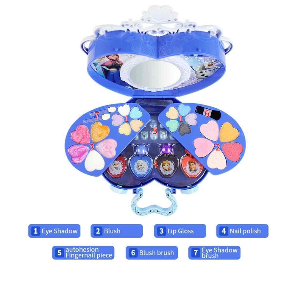 39 قطعة طقم مستحضرات التجميل ل ديزني المجمدة سلسلة ماكياج مجموعة للفتيات ممارسة المكياج لعبة الحلي للأطفال هدايا عيد الميلاد