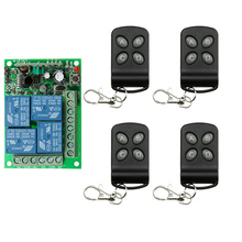Sistema conmutador de control remoto inalámbrico DC24V, 4CH, 10A, transmisor telescópico + receptor, relé, casa inteligente z wave