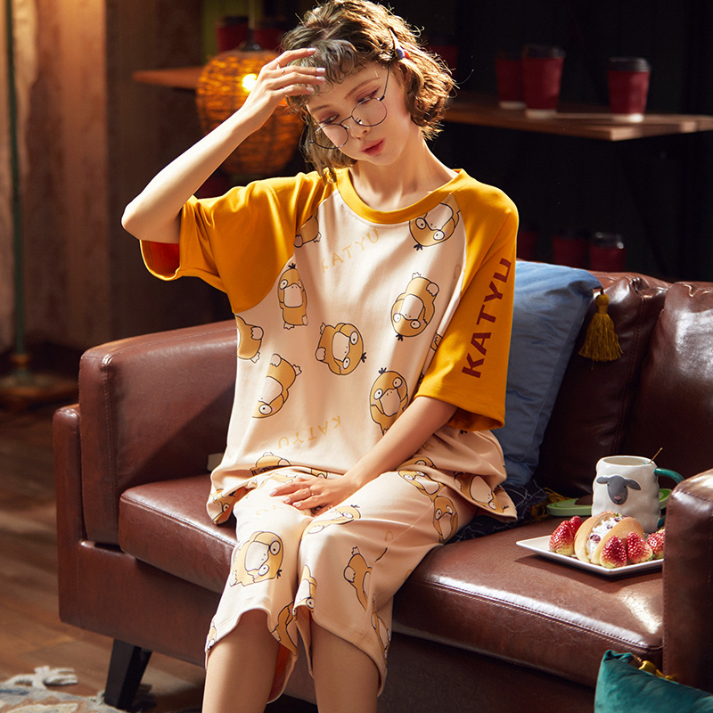 2020 New Stylish Female Pajamas Spring Summer Cotton Pyjamas For Women Casual Comfortable Sleepwear For Girl Hot Sale