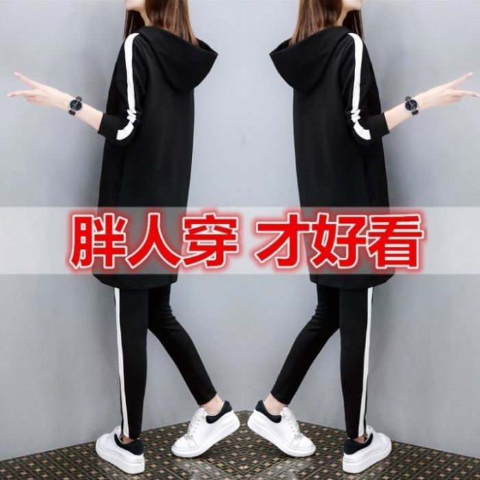 -2019 Autumn And Winter New Style Korean-style Loose And Plus-sized Casual Wear Sports WOMEN'S Suit Two-Piece Set WOMEN'S Dress