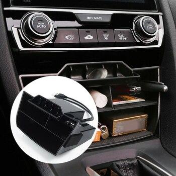 Para Honda Civic 2016-2019 Almacenamiento de reposabrazos Central para coche caja de contenedor guante organizador caso Puerto USB