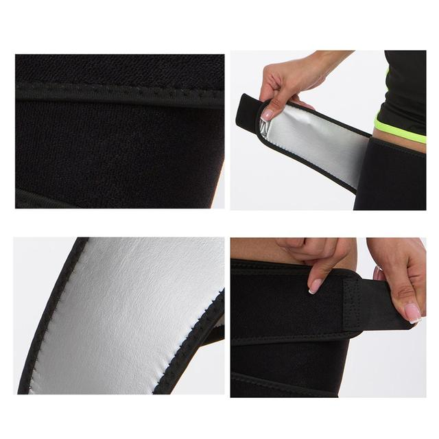 Neoprene Leg Shaper Sauna Sweat Thigh Trimmers Calories Off Anti Cellulite Slimming Legs Fat Thermo Compress Belt Face Lift 4