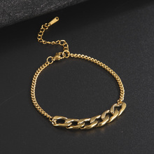 Wrist Jewelry Adjustable Bracelets Gold-Chain Stainless-Steel Valentine's-Gift Girls