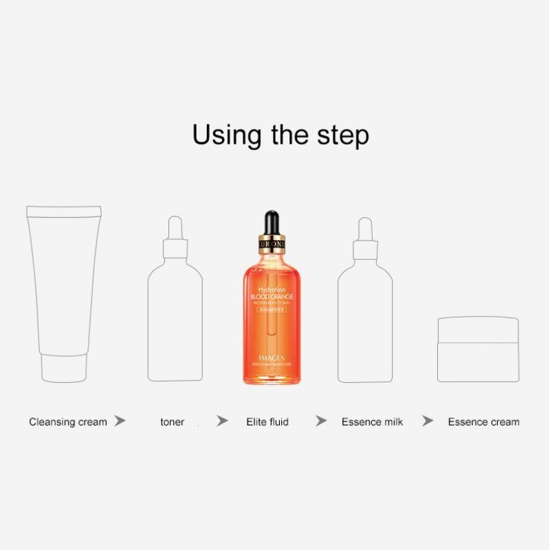 100ml Korean Vitamin E Deep Rpair Antioxidant Facial Serum Lighten melanin Skin Whitening Anti aging Natural Blood Orange liquid