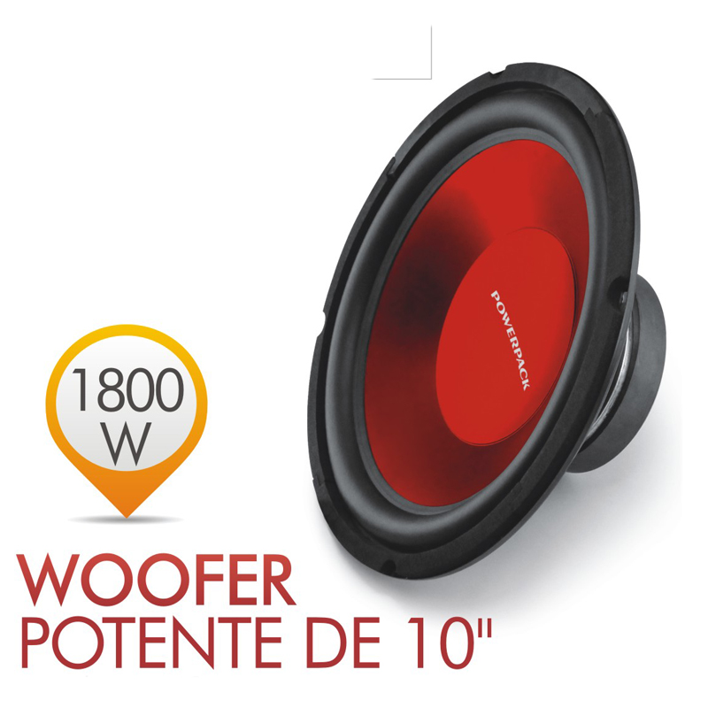 10 inch Powerful Sealed Box Red Car Subwoofer 1800Watts 4ohm Speakers Subs Stereo Boom Box louder StereO Passive Speaker Trunk