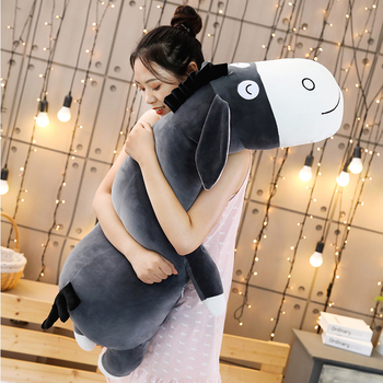 New 70-90cm Cute Cartoon Donkey soft Stuffed Animals Toy Boy Girl Donkeys Pillow Cushion Kids Comforting Companion Birthday Gift donkeys