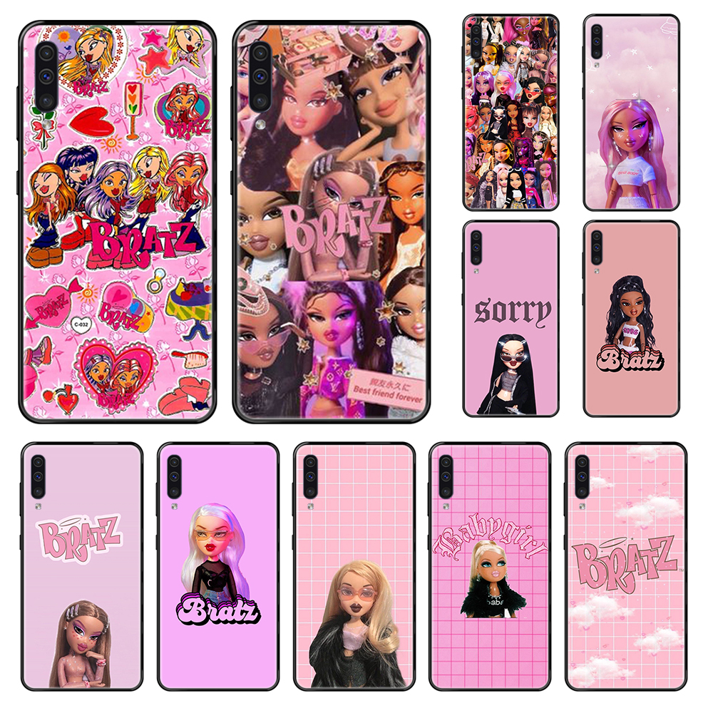 lovely Doll Bratz painting <font><b>hoesjes</b></font> bumper black Phone case For <font><b>Samsung</b></font> Galaxy <font><b>A</b></font> 3 5 6 7 8 20 <font><b>40</b></font> 50 70 71 E S Plus 2016 2017 2018 image