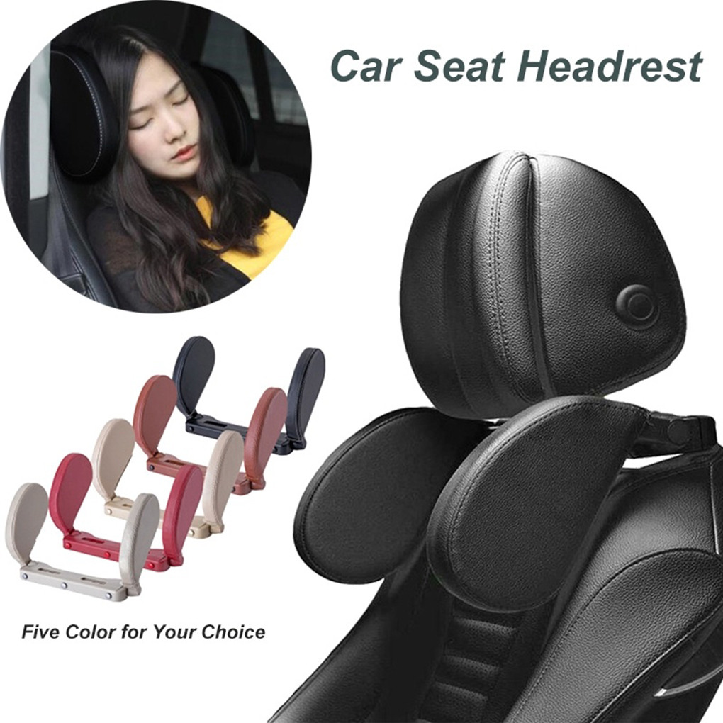 Car U Shaped Pillow Adjustable Kids Adults Headrest Travel Neck Support Cushion Rest Accessories