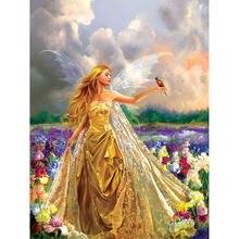 Diy картина по номерам Красота крылья масла Раскраска пейзаж