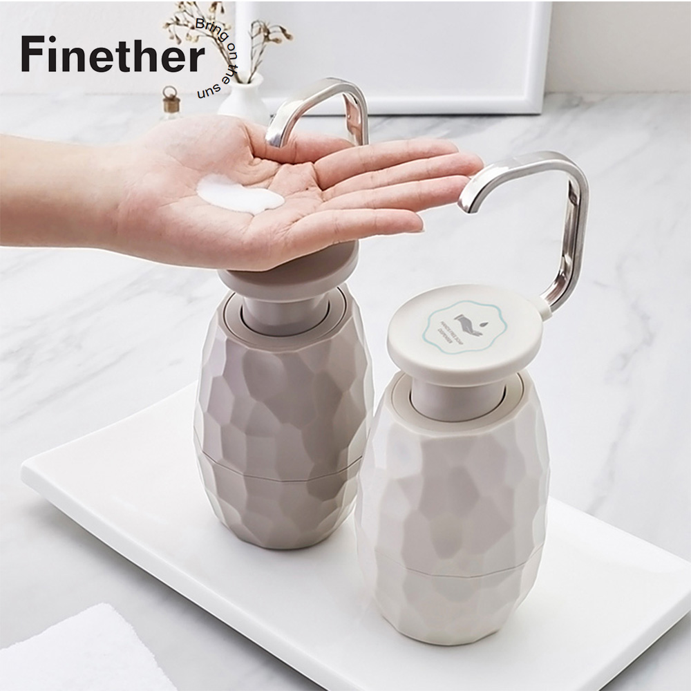 Finether 400ml Creative One-Hand Soap Dispenser Facial Cleanser Shower Gel Bottle Environmentally Friendly Home Hotel Bathroom