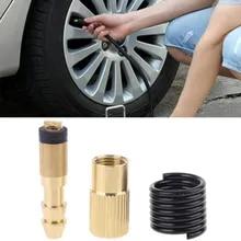자동차 타이어 팽창기 어댑터 표준 펌프 공기 압축기 용 블로우 건 노즐 바브 커넥터가있는 트위스트 온 타입