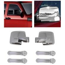 Dodge Nitro 07-11 Maniglie for Porte Auto Esterno LAA Maniglie Cromate delle Porte Fit for Jeep Liberty 08-12