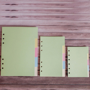 5pcs/set A5 A6 A7 Page 6 Holes Inside Pages Dividers Planner Papers Spiral Notebook Filler Paper Loose Leaf Separator