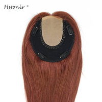 Hstonir European Remy Hair Topper Jewish Toupee 6x6 Crown Hair Piece Protesis Wiglet Kippah Fall Kosher TP26