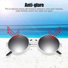 Модные мужские и женские винтажные Ретро Круглые Солнцезащитные очки, металлическая оправа, очки, очки для вождения, очки для спорта на открытом воздухе