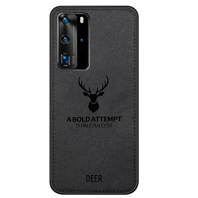Hot Cloth Texture Deer 3D Soft TPU Magnetic Car Case For Huawei P20 Pro Built-in Magnet Plate Case For P30 P40 Pro Lite Cover 2