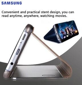 Image 5 - Samsung Originele Spiegel Clear View Cover Voor Samsung Galaxy S8 SM G9500 S8 + S8 Plus SM G9550 S View Flip case Met Kickstand