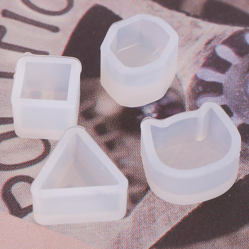 Глины, эпоксидной смолы, цемента DIY аксессуары мини-куб котенок плесень хрусталь клей ювелирные изделия прессформы силиконовые формы серьги