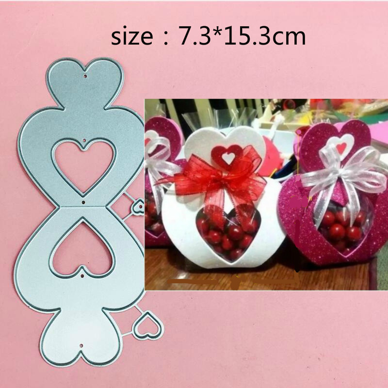 New Love Sweet Candy Box Metal Cut Dies Stencils for Scrapbooking Stamp/Photo Album Decorative Embossing DIY Paper Cards
