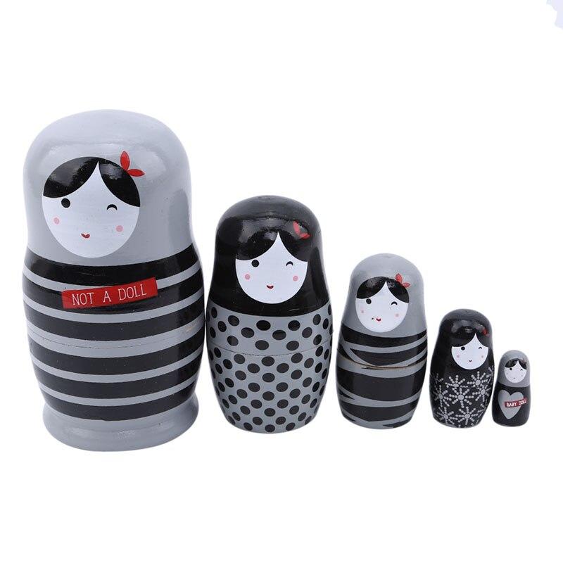 5 шт./компл. прекрасная Матрешка, деревянные куклы-гнезда, русская ручная роспись для детей, детские куклы