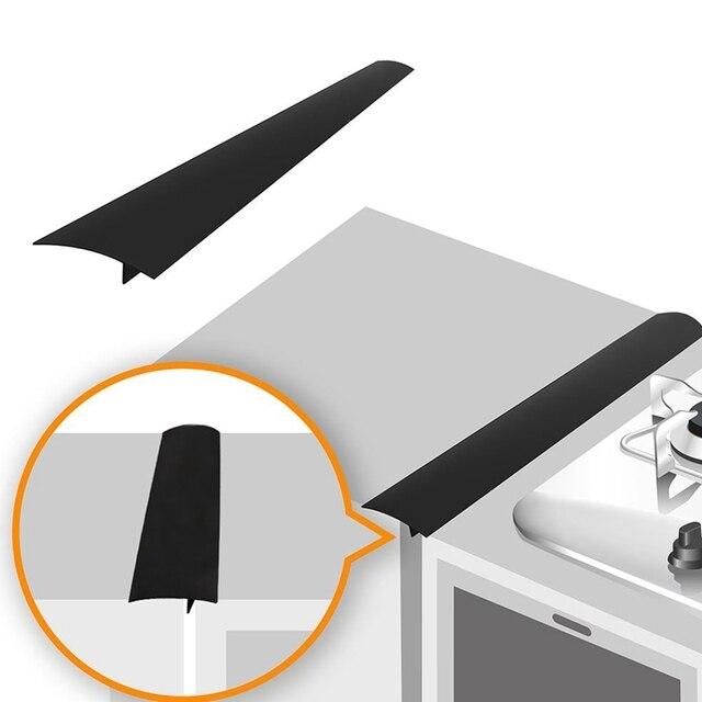 Gran oferta 2 paquetes de 25 pulgadas cocina Gap Filler cubierta de silicona protector de derrames para placa encimera horno lavadora secadora lavadora