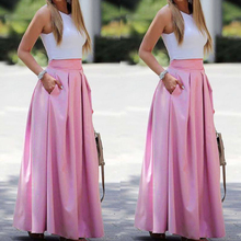 Summer Dress Women 2020 Elegant Sexy Sleeveless Cropped Top & High Waist Pleated