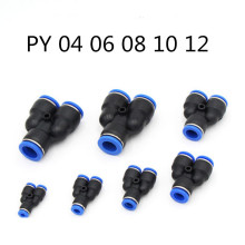 Pneumatic fitting  PY Y-shape thee joint for 04 06 08 10 12