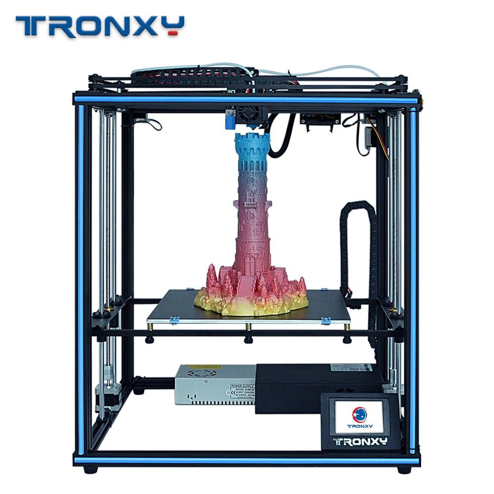 Tronxy 2019 New Atualizado Impressora X5SA 24V 3D CoreXY Kits DIY Construir Placa de Metal 330*330 milímetros de Calor sensor de mesa máquina de Filamento 3d